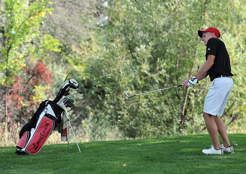 Loveland High's Cole Bundy during 5A regional golf at Mariana Butte in Loveland on Friday, September 21, 2012.