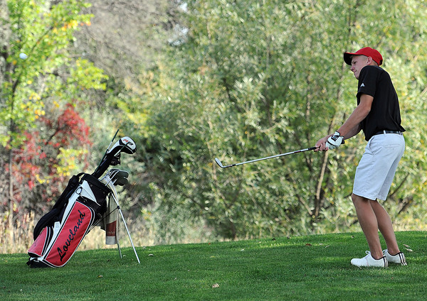 Loveland High's Cole Bundy during 5A regional golf at Mariana Butte in Loveland on Friday, September 21, 2012.