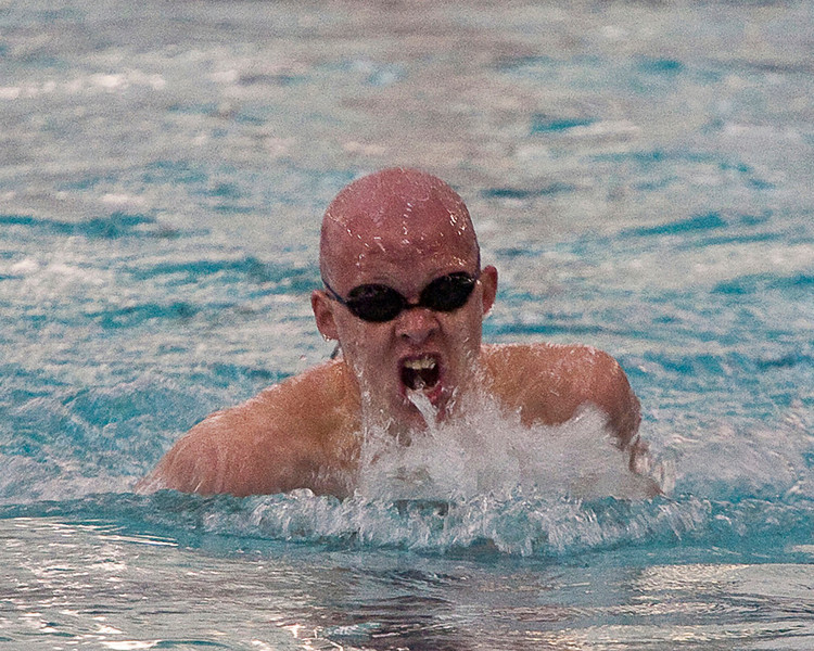 Loveland High School junior Brandon Hatanaka competes in the Mens 200 Yard Individual Medley preliminaries Friday at the Edora Pool Ice Center located at 1801 Riverside in Fort Collins. Hatanaka finished second to Jared Markham of Cherry Creek High School with a time of 1:55.26.