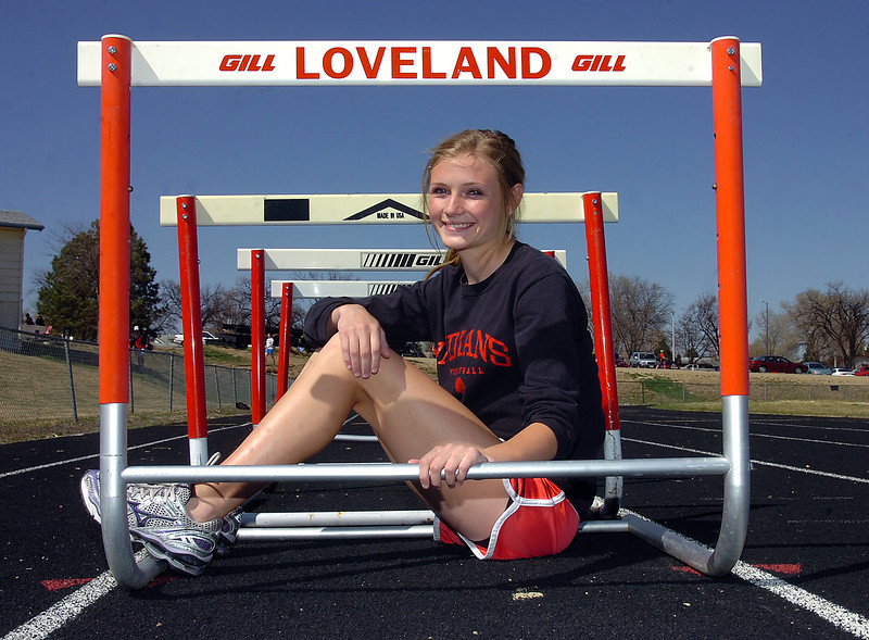 LHS Hurdler Kaylee Packham poses for a photo Monday.(Chceck spelling with Koso)