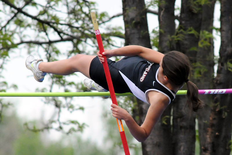 Loveland High School's Lisa Bohannon clears the bar while competing in the pole vault during the Class 5A State Track and Field Championships on Thursday, May 19, 2011 at Jeffco Stadium in Lakewood, Colo.