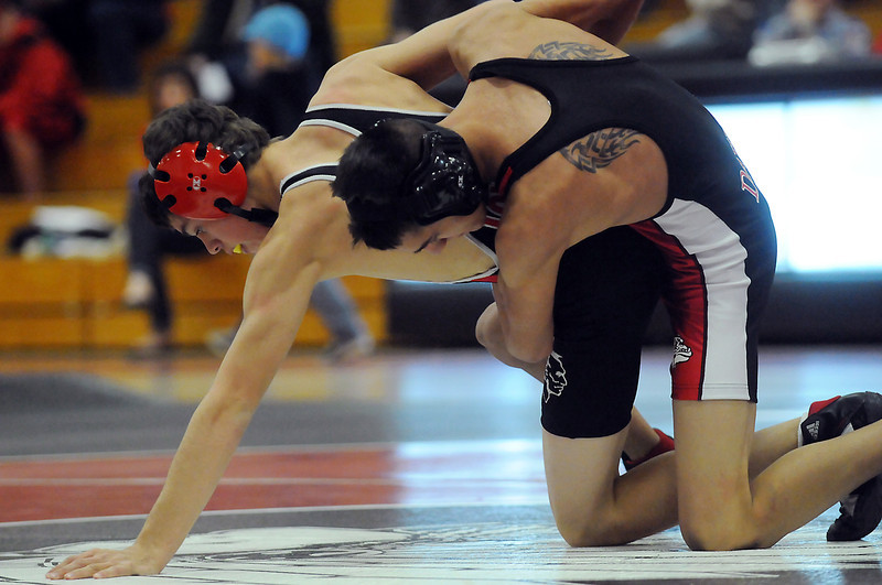 Loveland High School against Brighton on Thursday, Dec. 16, 2010 at LHS. 125-pound<br /> LHS: Nick Deeb<br /> BHS: Deion Ramirez