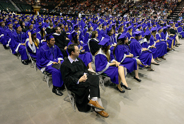 The Mountain View High School class of 2013 during their graduation ceremony at the Budwieser Events Center at The Ranch in Loveland on Saturday, May 25, 2013.