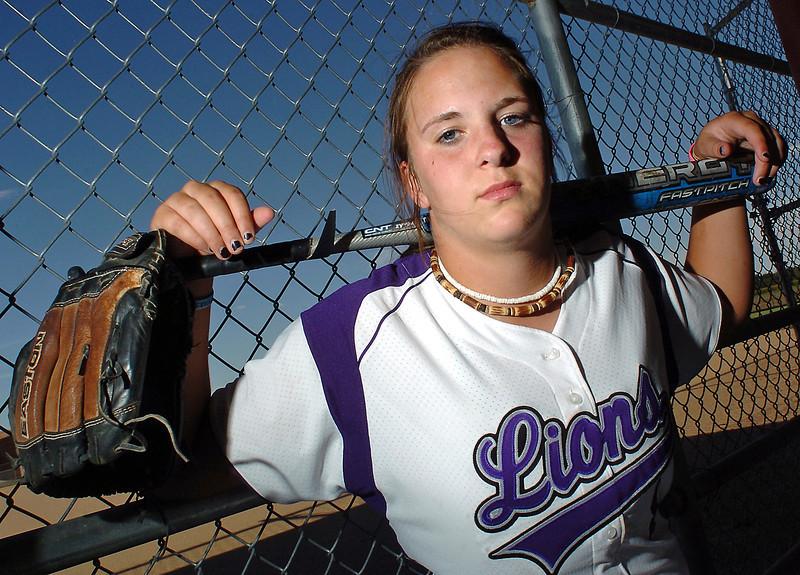 Mountain View High School senior Kellie Eastman plays shortstop for the Mountain Lions' softball team.
