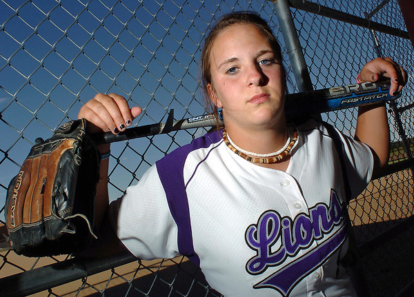 Mountain View High School senior Kellie Eastman plays shortstop for the Mountain Lions' softball team.