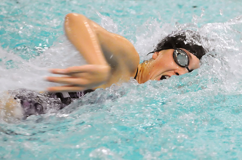 Mountain View High School senior Jessica Reed-Baum swims in the 50-yard freestyle consolation heat during the Dick Rush Coaches Invitational swim and dive meet on Saturday, Dec. 18, 2010 at the Mountain View Aquatic Center.