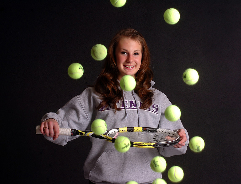 Mountain View High School tennis player Jordan Holland poses for a photo Monday.