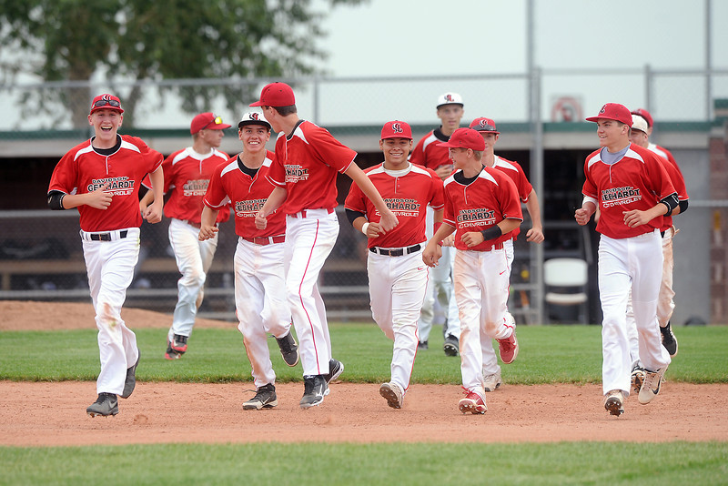 Davidson Chevrolet players run off the field after defeating Johnson's Corner, 3-2, on Friday, June 21, 2013 at Brock Field.