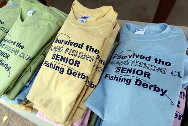 T-shirts for the Loveland Fishing Club Senior Fishing Derby.
