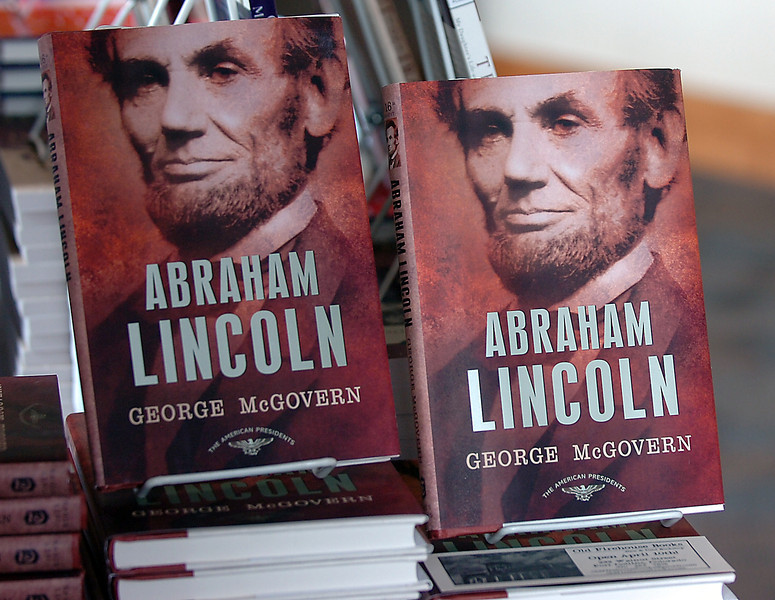 Former Sen. George McGovern's book on Abraham Lincoln.