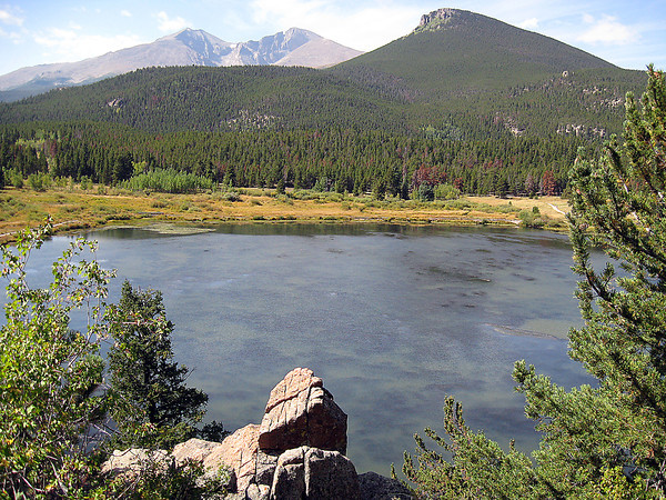 Lily Lake in Rocky Mountain National Park.