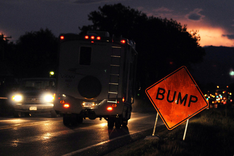 Cars pass along Highway 402 near South Boise Avenue on Aug. 26.
