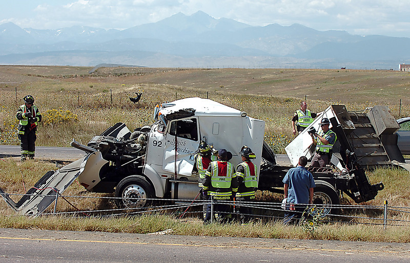 Accident on I-25.