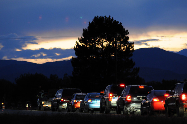 Cars pass along Highway 402 near South Boise Avenue on Aug. 26.