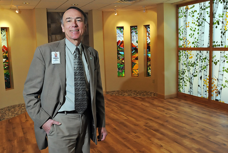 McKee Medical Center chaplain Bruce Rippe stands Friday in the hospital's new chapel that was recently completed after ten weeks of construction and almost a decade of planning.