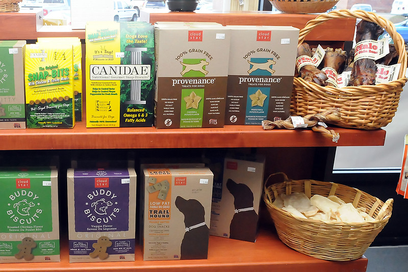 Hank's Pet Food Market, 2245 W. Eisenhower Blvd., carries items including toys, bowls, collars, leashes, supplements, premium food and a variety of treats.