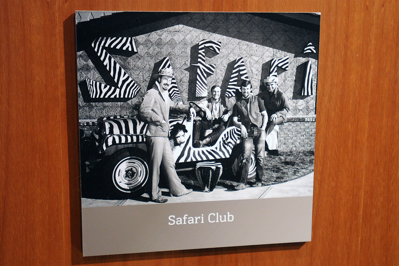 A photograph on display at the Museum Discovery Center shows an exterior shot of the 1960s-era Safari Dinner Club that operated in Fort Collins.