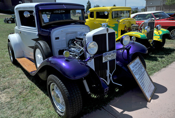 A 1931 Huppmobile sits on display Sunday during the Road Knights car show at The Ranch.