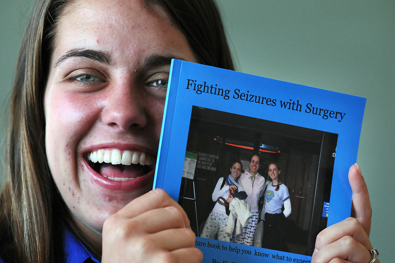 Kellie Towne, 19, wrote a book about what to expect during surgery to releive the symptoms of epilepsy. The teen underwent two surgeries that helped her with the disorder so she wanted to help those who face the same treatment.