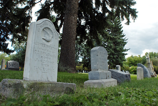 The gravestone for James Weston at Lakeside Cemetary, shows that he lived 30 days before his death in 1887.