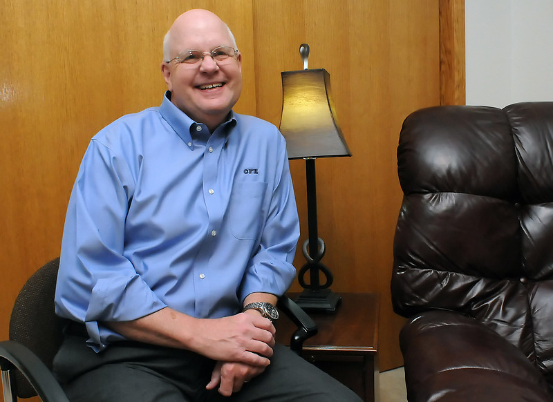 Marv French, a certified hypnotherapist with Cornerstone Family Hypnosis, poses in the sitting room of his office where he helps clients manage a variety of issues including anxiety, stress, weight loss and stopping smoking.