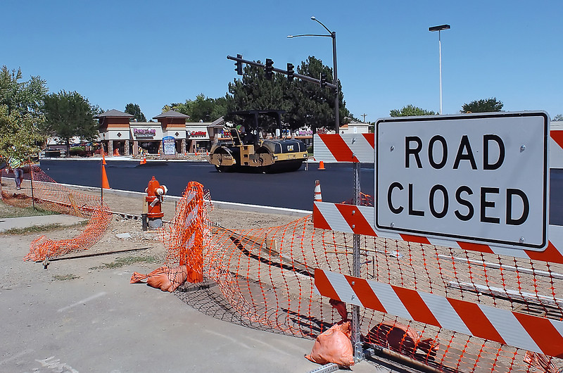 Roadwork continues Thursday on a stretch of Madison Avenue just north of Eisenhower Boulevard.