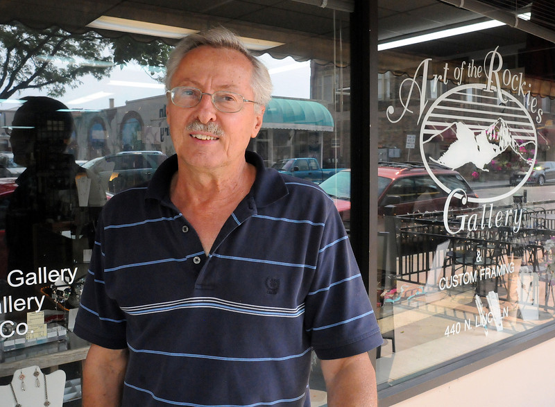 Norm Toman, who has owned Art of the Rockies gallery and frame shop at 440 N. Lincoln Ave. since 1995, is in the process of selling his building. He plans to move to a smaller location across from the Rialto Theater Center on East Fourth Street. (Photo by Craig Young)