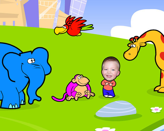 Theo Lambrakos appears with animated characters in the PBS Sprout Channel show PICME.