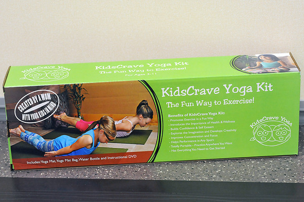 Yoga instructor Amy Norris developed a kids yoga kit for children ages 3-11 which includes a 1/4-inch thick yoga mat, a yoga exercise video geared toward children and a water bottle.