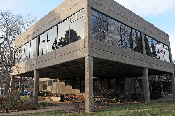 If the Poudre River Public Library District's request to modify a city ordinance is approved by the Fort Collins City Council the library at 201 N. Peterson St. will be allowed to expand into the space under existing overhangs like this one at the southeast corner of the building.