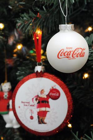 Victoria Villavicencio has more than 400 Christmas tree ornaments with a Coca-Cola theme.