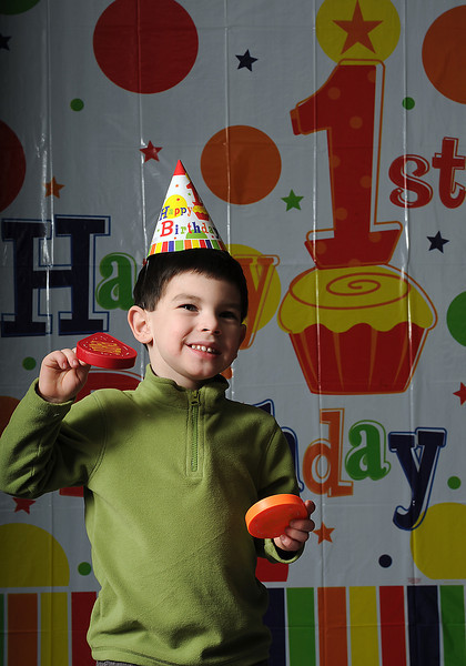 Evan Walker, 4 years-old today, is celebrating his first actual birthday since he was born on leap day in 2008. Photo by Jenny Sparks