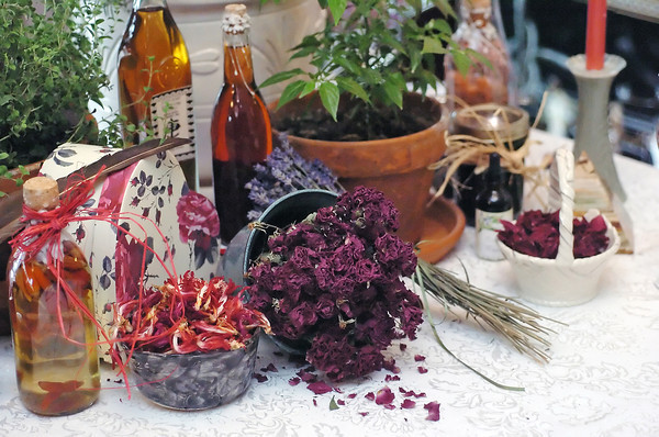 Loveland resident Donna Wild uses a variety of different herbs, flowers and other ingredients to make love potions.