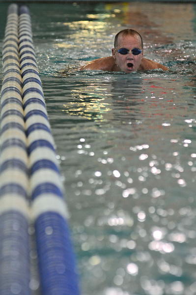 Richard Howard of Loveland swims one of his 35 daily laps on Thursday at the Chilson Recreation Center. Crews will break ground to expand the center in mid February, offering visitors an expanded leisure pool and workout facilities.