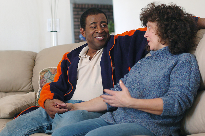 Lew Gaiter and his wife, Jeanette, sit together in their Fort Collins home as they describe their feelings about Lew's recent selection as a Larimer County Commissioner. He replaces 11-year veteran commissioner Kathay Rennels who resigned in late December with one year left in her term to take a job at Colorado State University.