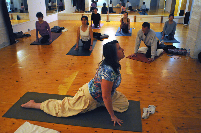 "Jennifer Monk of Monk Yoga leads a noontime class on Tuesday that will benefit victims of the earthquake in Haiti through donations to the Red Cross. Monk will offer another class to benefit the same cause at noon next Tuesday. Monk noticed the need from news reports over the weekend: ""Watching all that on TV and seeing all those people in destitution, I though we needed to take some action,"" said Monk who offers her studio to benefit community causes."