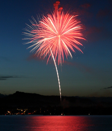Fireworks go off over Lake Loveland as a final celebration of Independence Day Saturday evening.