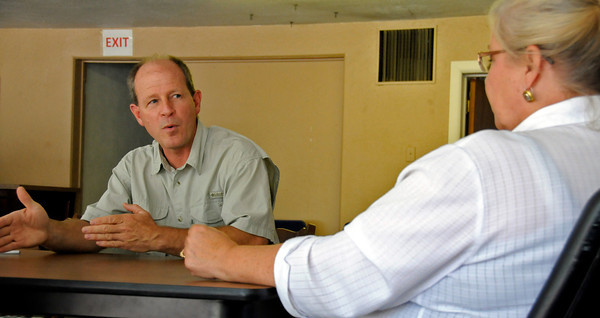 Doug Ashbaugh and Executive Director of House of Neighborly Service Glorie Magrum explain what the new 137 Homeless Connection on South Lincoln hopes to provide for the homeless community of Loveland. The Homeless Connection will act as a resource center where the homeless can find help getting a birth certificate, volunteering or a ride to a VFW location close by.