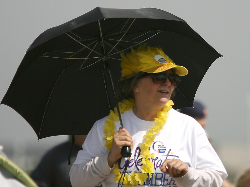 Darlene Oliver with team Duck Cancer participates in the Relay for Life on Saturday at The Ranch. (Photo by Gabriel Christus)