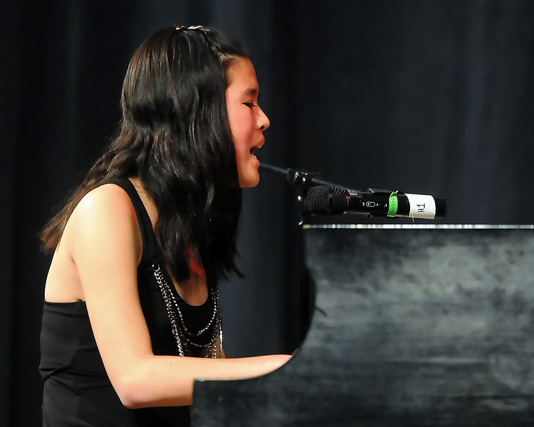 "The 49th Annual Stars of Tomorrow Show on Saturday, March 20, 2010 at Roberta L. Price Auditorium at Thompson Valley High School. Veronica Peiffer, vocal solo w/piano, ""A Thousand Miles."""