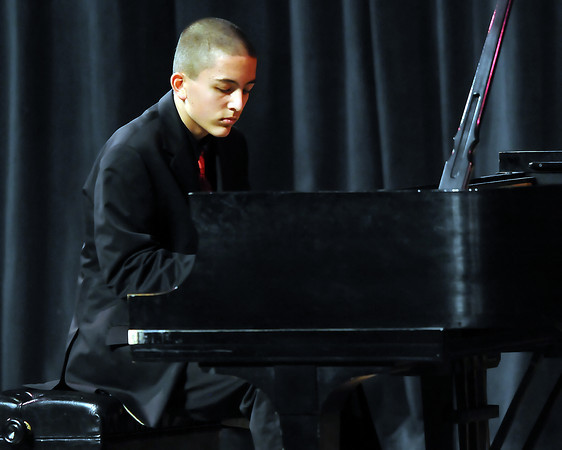 "The 49th Annual Stars of Tomorrow Show on Saturday, March 20, 2010 at Roberta L. Price Auditorium at Thompson Valley High School. Daniel Greenidge, piano solo, ""The Garden of Eden: Old Adam, Suite for Piano, op. 14, no. 3."""