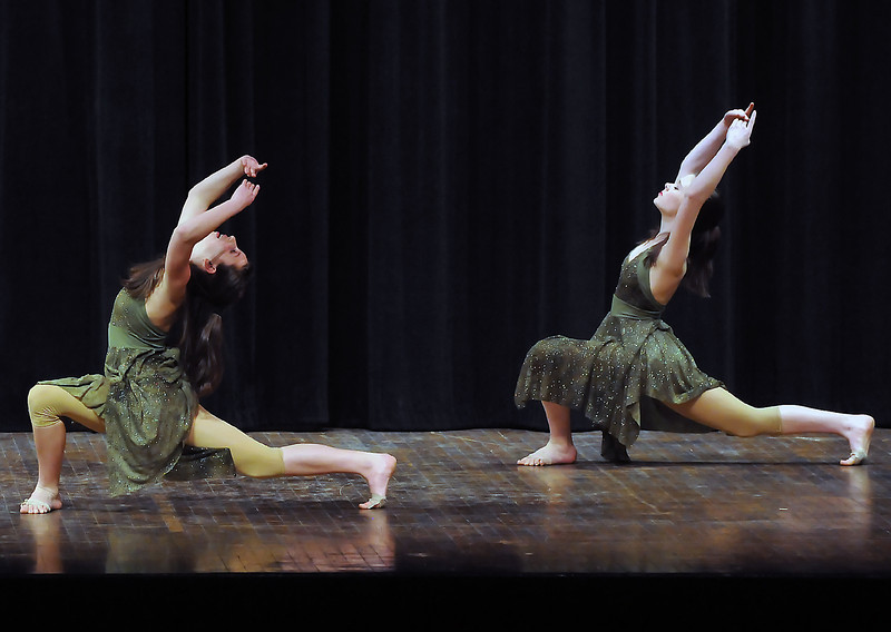 "Anna Miera, left, and Meg Towne perform a lyrical dance called ""Breathe Me"" during the 49th Annual Stars of Tomorrow Show on Saturday, March 20, 2010 at Roberta L. Price Auditorium at Thompson Valley High School."