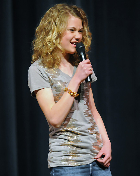 "The 49th Annual Stars of Tomorrow Show on Saturday, March 20, 2010 at Roberta L. Price Auditorium at Thompson Valley High School. Madeline Pelster, vocal solo, ""Crazy Dreams."""