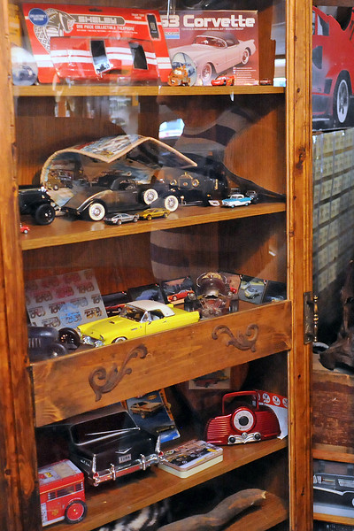 Rick Haskell also has a number of model and toy cars on display that are representative of the various cars he has owned over the years.