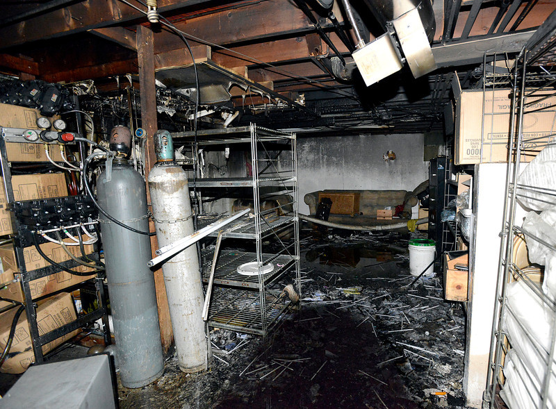 The basement at Fatso's Diner, seen on Wednesday, March 20, was heavily damaged during a fire. Fire crews responded to the blaze on Sunday, March 17, 2013.