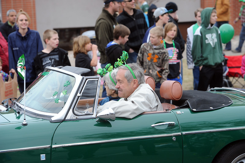 Lucky Joe's St. Patrick's Day Parade on Saturday, March 16, 2013 in Old Town in Fort Collins, Colo.