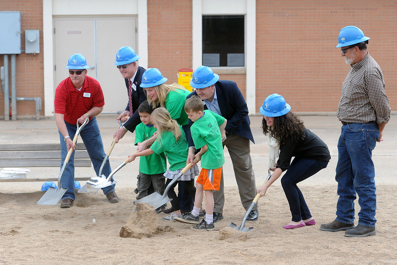 Groundbreaking event at Big Thompson Elementary School on March 29, 2013 for the school's new playground that's scheduled to open in August.
