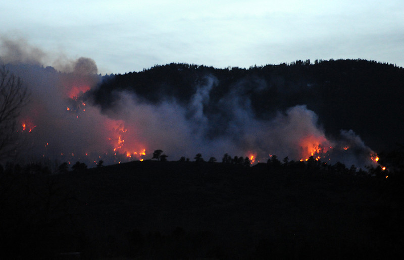 0316 NWS SoldFireNight-js.jpg Flames from the Galena fire consume land in Fort Collins on Friday, March 15, 2013.