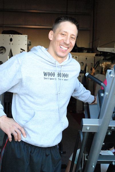 "Ryan Ehmann poses in front of his workout studio in Loveland on Wednesday, March 6, 2013. Ehmann will appear in the show ""Shark Tank"" which airs this Friday."
