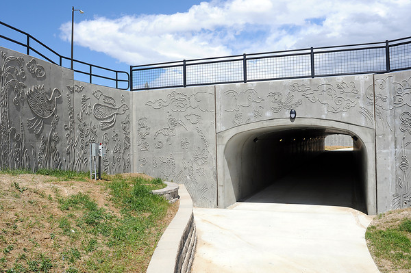 View through the new tunnel Wednesday where the bike trail continues underneath Highway 287 near 57th Street in north Loveland.